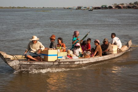 People returning from the market on water.