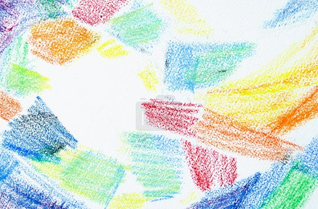 Photo for Grunge texture of pastel strokes. Crayons abstract grunge background. Frame design element. Blank for business cards with hand drawing textures. Pencil design elements. - Royalty Free Image