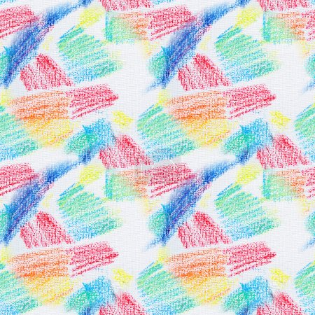 Photo for Grunge seamless texture of pastel strokes. Crayons seamless abstract grunge background. Design element. Hand drawing pattern. Pencil design elements. - Royalty Free Image