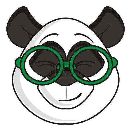 contented muzzle panda glasses