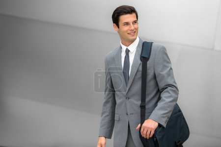 Business executive young adult successful smiling corporate working man handsome