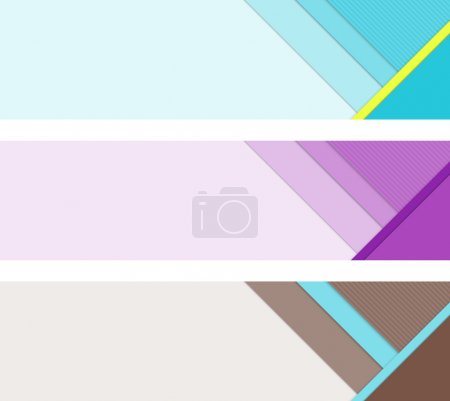 Photo for Material design banner elements. Template layout for UI or web banners. Bitmap illustration. - Royalty Free Image