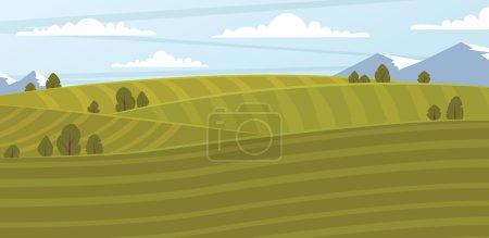 Champ agricole, illustration bitmap