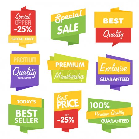 Sale sticker bitmap collection on white background