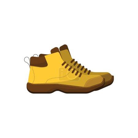 Hiking boot icon, raster