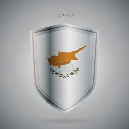 Europe flags series, raster. Cyprus. Modern icon.
