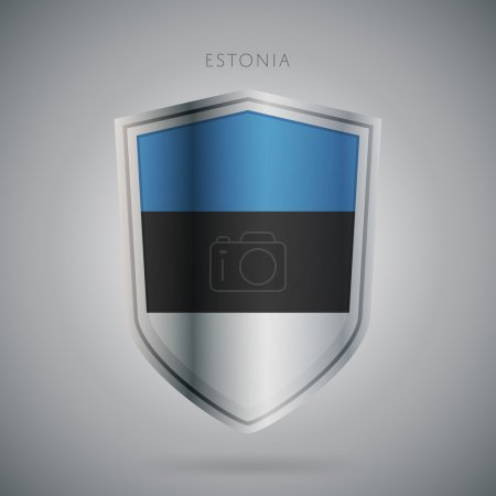 Europe flags series, raster. Estonia icon