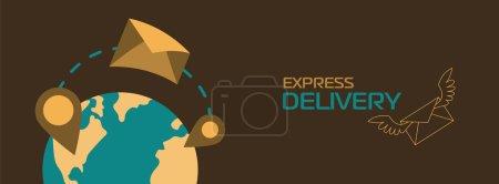 Photo pour Bannière de livraison produits abstraits, pour sites Web ou application mobile . - image libre de droit