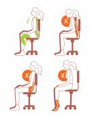 Sitting positions correct spine posture