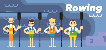 Rowing team costs about podium with medals