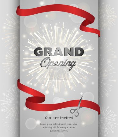 Grand opening banner design vector illustration