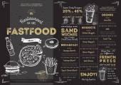 Kavárna restaurace rychlého občerstvení nabídka šablona
