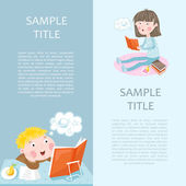Back to school banner vector illustration Concept icons of education and learning Knowledge sign