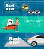 Rental car banners