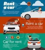 Rental car banners