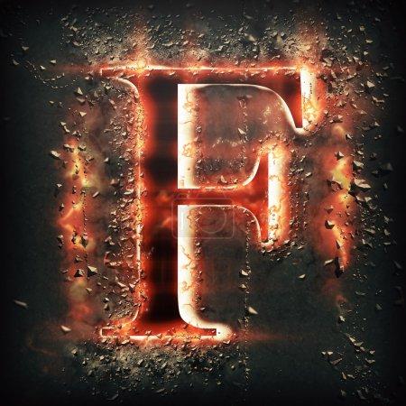 Feu rouge lettre F