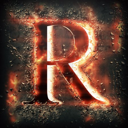 Feu rouge lettre R