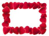 Rám červené srdce