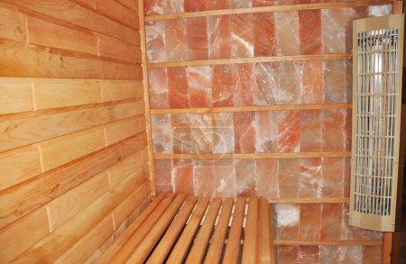 Dry Salt Sauna. An infrared himalayan salt sauna uses heaters to emit an infrared radiant for salt therapy.