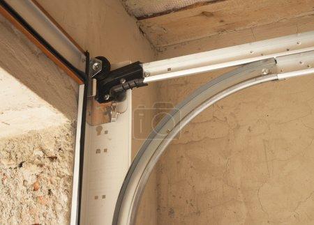 Close up on Detail of Garage Door Installation...