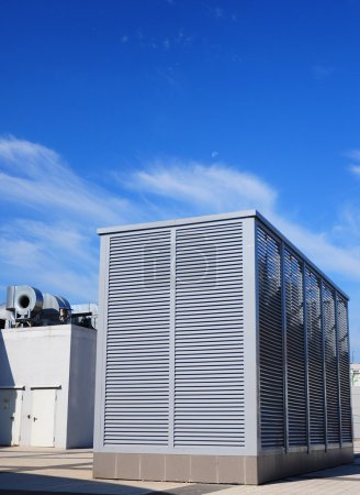 Industrial air conditioning and ventilation systems on the stree