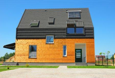 Modern House Exterior Design.  New Building House Energy Efficie