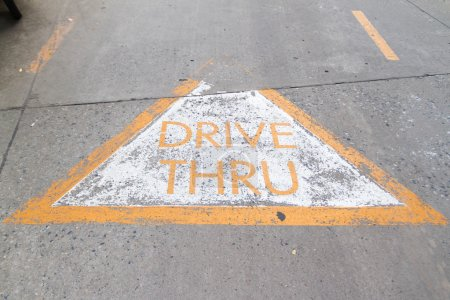 Drive Thru sign on the rode...