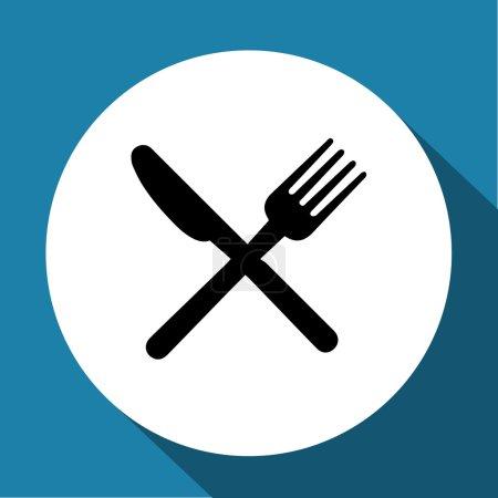 Illustration pour Fourchette, couteau, icône cuillère image vectorielle - image libre de droit