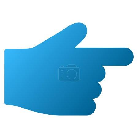 Photo pour Barre d'outils matricielle index droit icône pour la conception de logiciels. Style est le symbole de l'icône de dégradé sur un fond blanc . - image libre de droit
