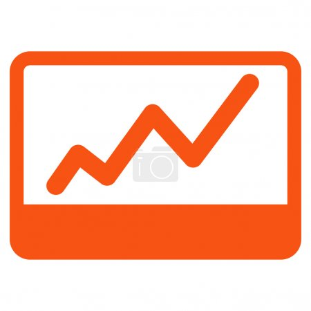 Photo for Stock Market icon from Business Bicolor Set. This flat glyph symbol uses orange color, rounded angles, and isolated on a white background - Royalty Free Image