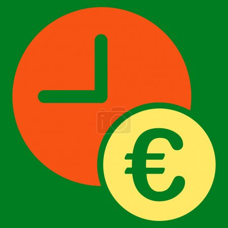 Euro Recurring Payments glyph icon. Style is bicol...