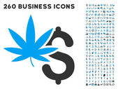Marijuana Business Icon with Flat Vector Set
