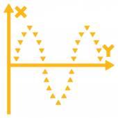 Dotted Sinusoid Plot Flat Vector Symbol