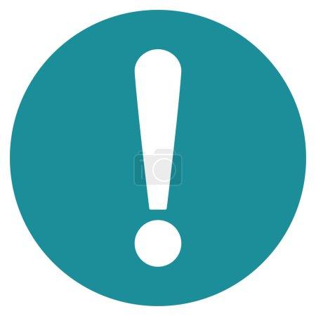 Illustration pour Problème icône de valeur Primitive. Ce symbole plat isolé est dessiné avec doux couleur bleu sur fond blanc, les angles sont arrondis - image libre de droit
