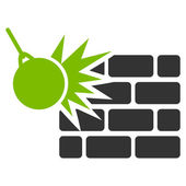 Destruction icon from Business Bicolor Set