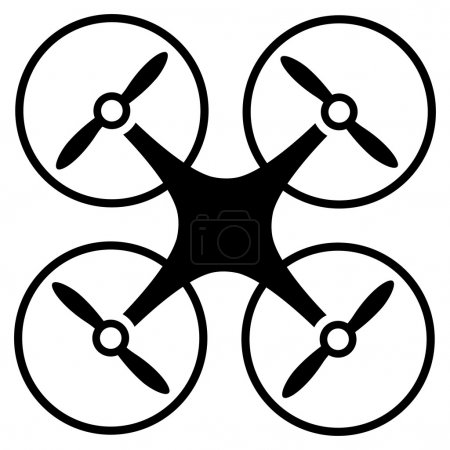 Photo for Copter icon. Vector style is flat symbols, black color, rounded angles, white background - Royalty Free Image