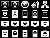 Eszközök, beállítások, mosolyog, ikonok jelennek meg, eszközök