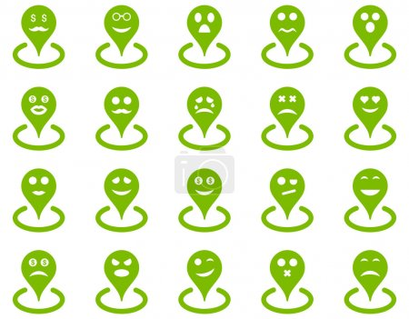 Smiled location icons