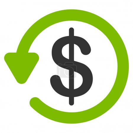 Refund icon from Business Bicolor Set