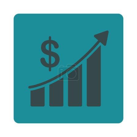 Illustration pour Icône de vente. Le style vectoriel est des couleurs bleues douces, bouton carré arrondi plat sur un fond blanc - image libre de droit