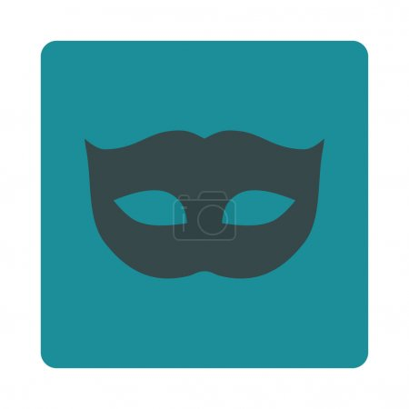 Privacy Mask flat soft blue colors rounded button