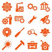 Options and service tools icon set