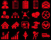 Business sales real estate icon set