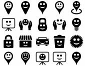 Tools options smiles objects icons