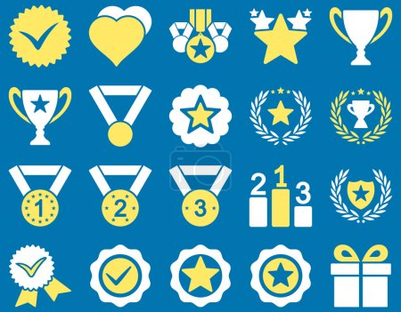 Competition and Success Bicolor Icons