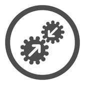 Integration flat gray color rounded vector icon