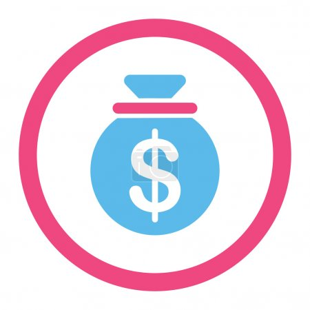 Capital vector icon. This flat rounded symbol uses...