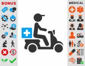 Drugs Motorbike Delivery Icon
