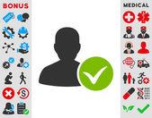 Paziente icone Ok