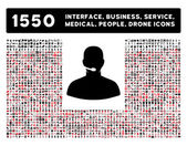 Call Center Icon and More Interface Business Tools People Medical Awards Flat Vector Icons